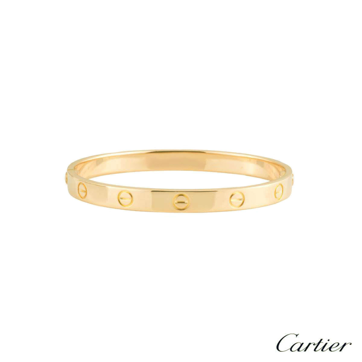 Cartier Yellow Gold Plain Love Bracelet Size 19 B6035519